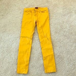 Mustard small skinny jeans